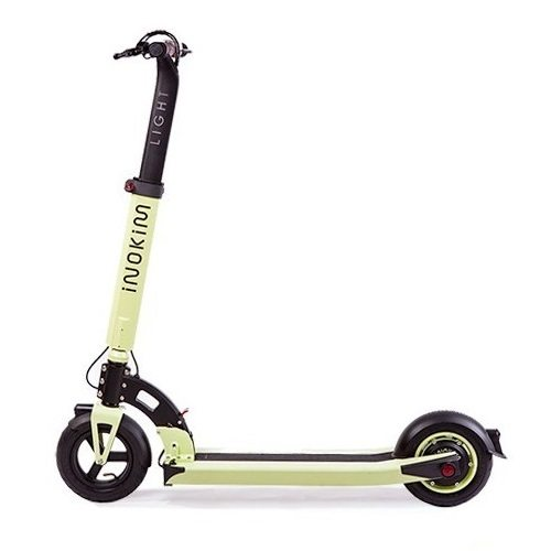 trottinette electrique inokim light vert depliee 1