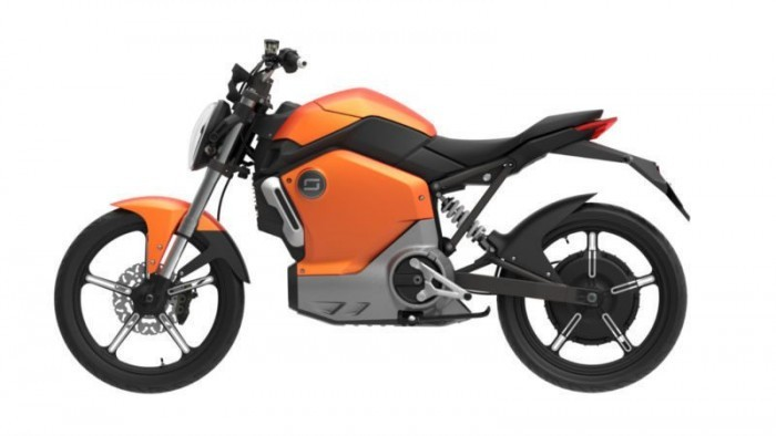 moto electrique super soco orange