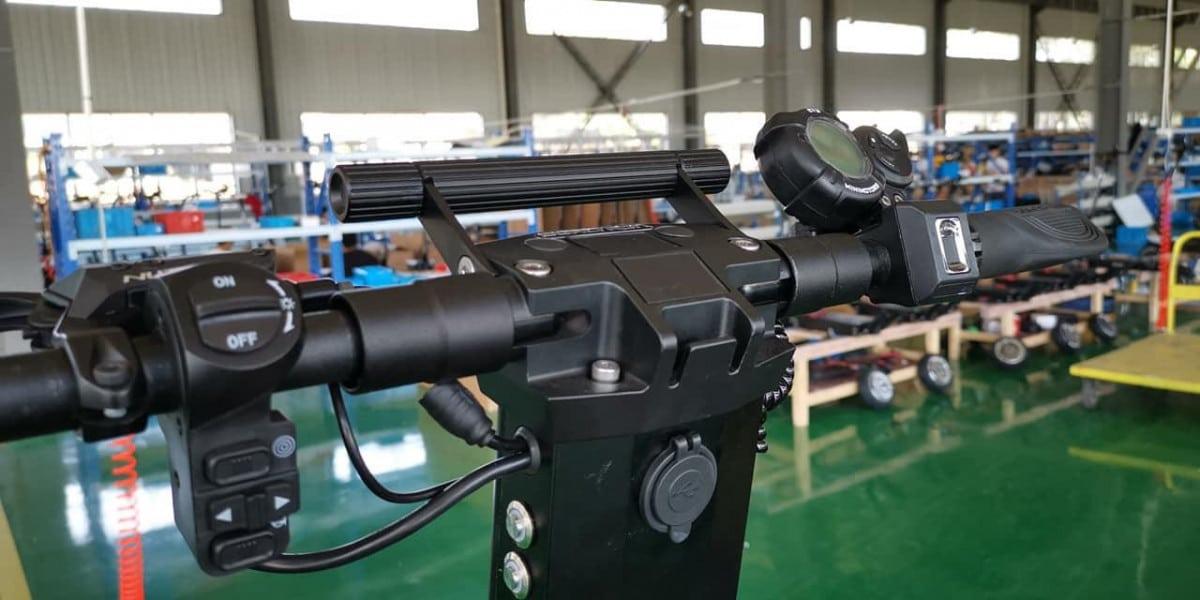 dualtron x montage usine trottinette electrique guidon