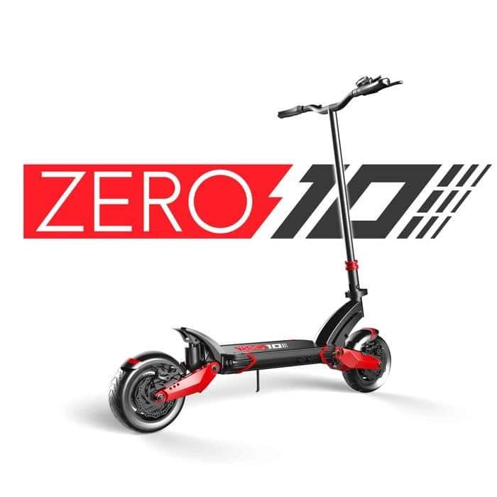 zero 10 x trottinette electrique dual ten backdo