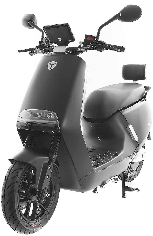 SXT Yadea G5 ESCG5.6 schwarz matt vorne links