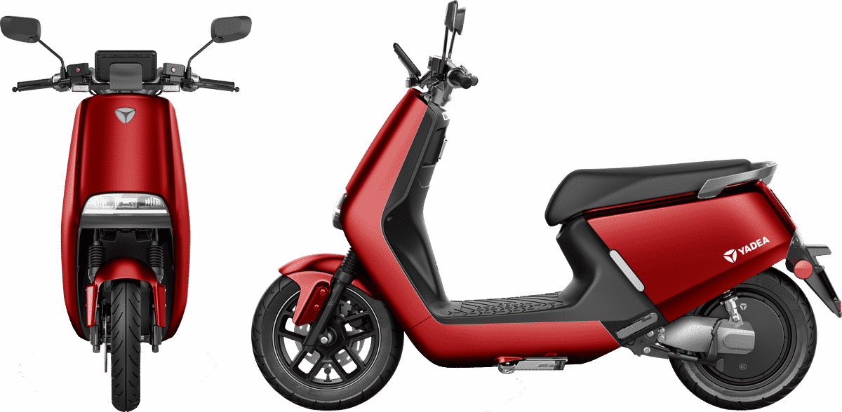 yadea-g5-pro-red-front-and-side