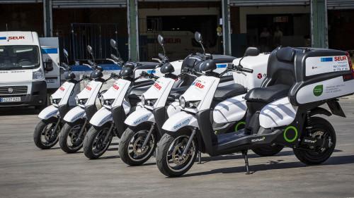 flottes scooters électriques de livraison